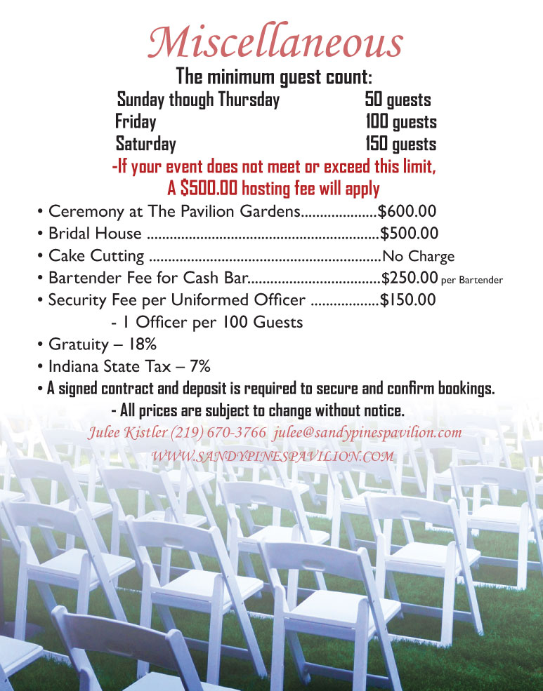 Sandy Pines Pavilion Menu 2018 - 06b
